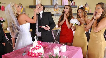 La novia se folla a los padrinos